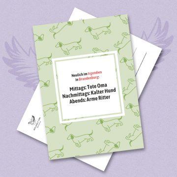 Shop-Link: 10er Pack Postkarten (Motiv Speisekarte)