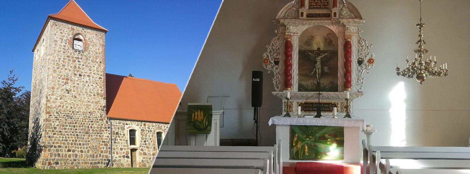 Kirchen und Klöster | Die historische Dorfkirche Kunow (Prignitz)