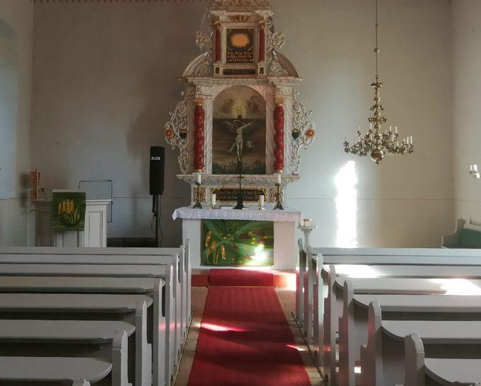 Kanzelaltar der Dorfkirche in Kunow